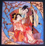 Фотография витраж японские мотивы