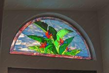 фото цветы на витражах