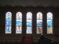 фото роспись по стеклу церкви