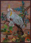 фото витраж белый попугай