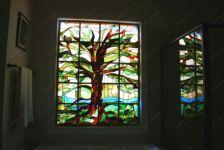 Витраж дерево фото