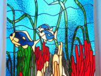 фото витраж рыбки
