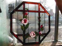 фото витражное окно роза