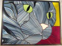 фото витражный кот