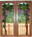 фото заливной витраж с виноградом